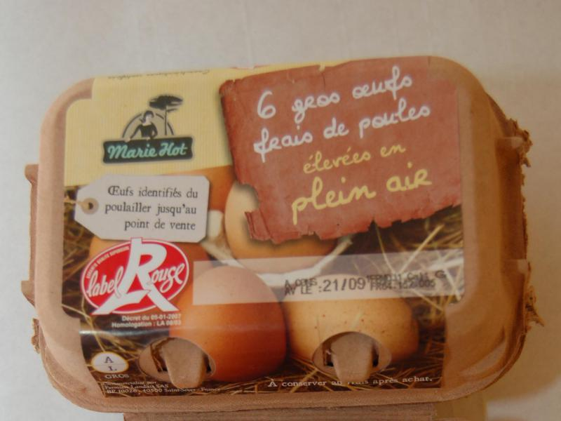 """Eieren """"Label Rouge"""" - Deze scharrelkippen lopen vrij rond in de bossen van Gascogne, het """"LABEL ROUGE""""-certificaat waarborgt de kwaliteit van de kippen maar ook het respect voor het milieu en dierenwelzijn."""