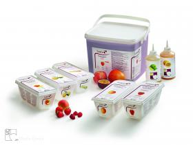 Purées de fruits - Les vergers Boiron, le meilleur des fruits et légumes surgelés en purées, coulis, préparations concentrées, semi-confits de fruits et fruits en morceaux.