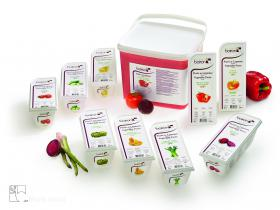 Purées de légumes - Les vergers Boiron, le meilleur des fruits et légumes surgelés en purées, coulis, préparations concentrées, semi-confits de fruits et fruits en morceaux.